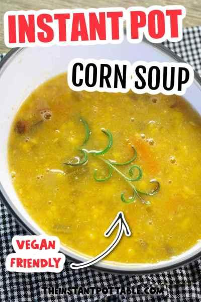vegan corn soup