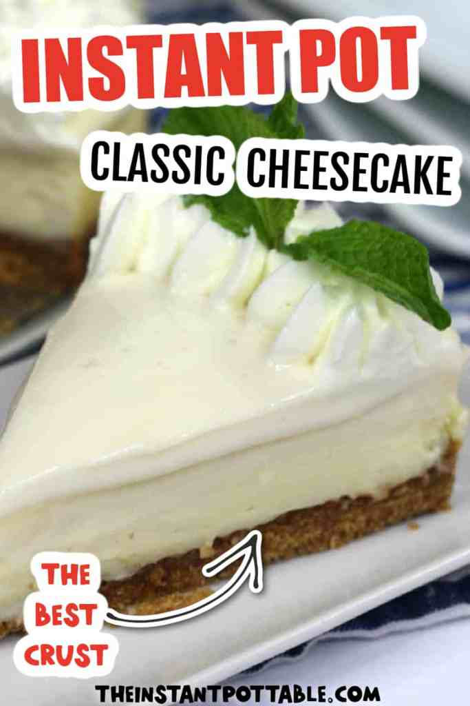 instant pot classic cheesecake