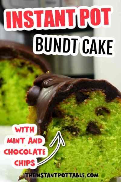 instant pot mint chocolate chip cake