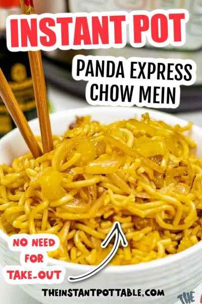 panda express chow mein instant pot recipe