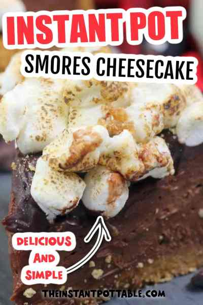 instant pot smores cheesecake