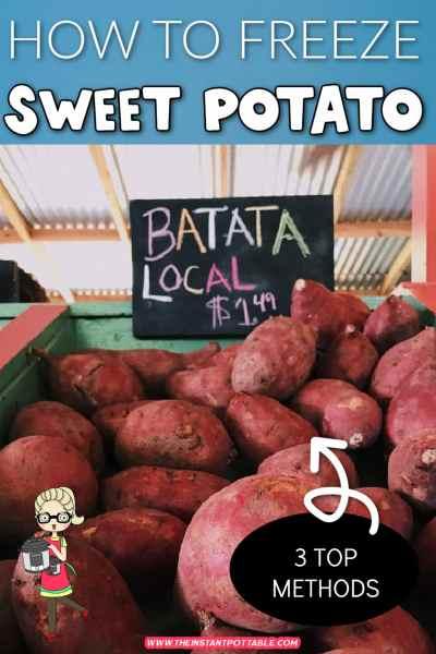 how to freeze sweet potato