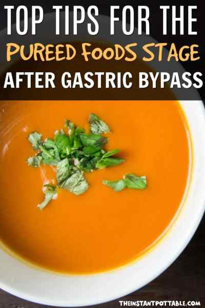 tips for the pureed diet after gastric bypass surgery