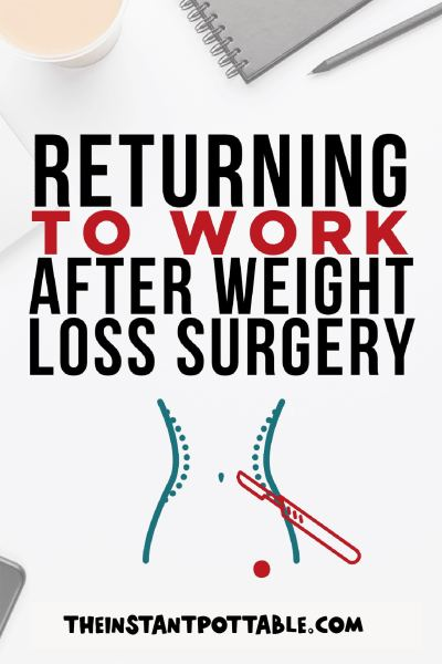 returning to work after weight loss surgery