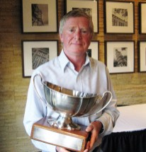 Barry Crutchley with Julius Neave cup