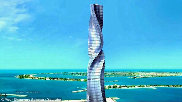 World's first rotating skyscraper almost done (Video)