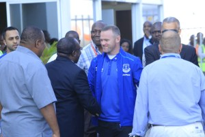 Rooney is here: Superstar arrives in TZ ahead of K'Ogalo match