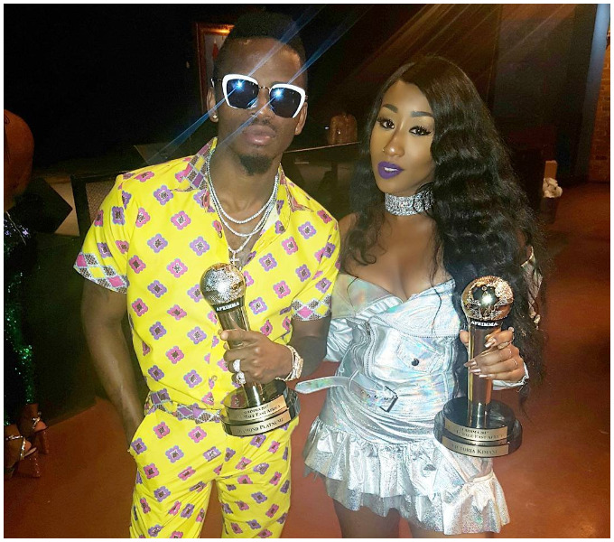 Victoria Kimani and Diamond slayed at AFRIMMA awards