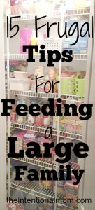 15 Frugal Tips for Feeding a Large Family
