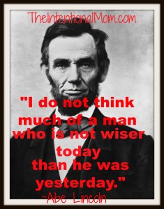 Inspirational Quote From Abe Lincoln