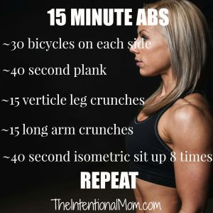Fitness Friday: 15 Minute Abs
