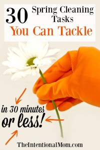 30 Spring Cleaning Projects You Can Tackle in 30 Minutes or Less!