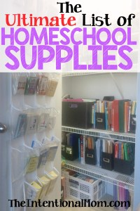 The Ultimate List of Homeschool Supplies