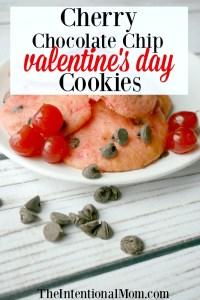 Cherry Chocolate Chip Valentine's Day Cookies