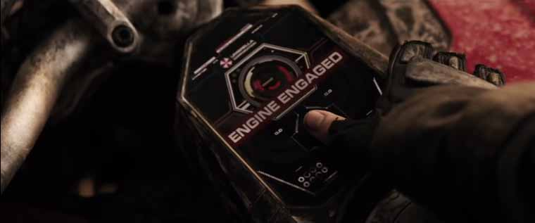 The UI on Resident Evil's Touch ID-enabled motorcycle