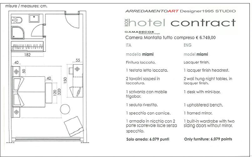 ARREDAMENTO HOTEL ALBERGO BED AND BREAKFAST