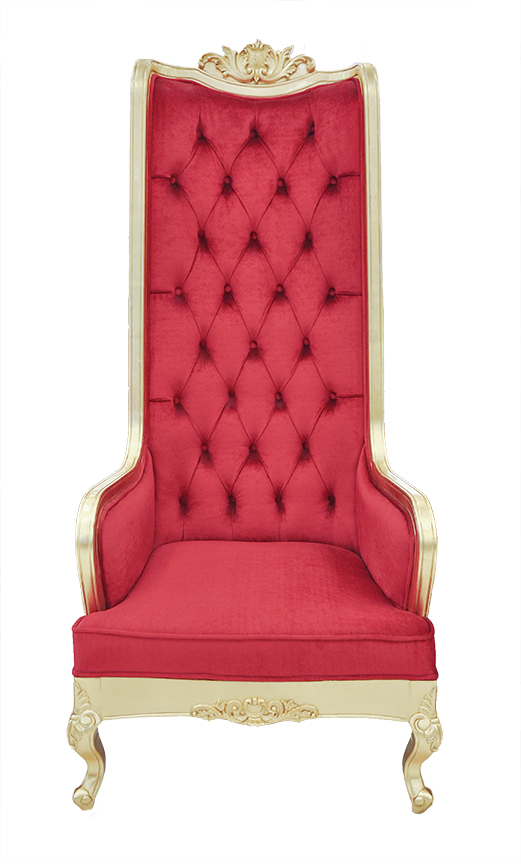 dining chairs with arms upholstered revolving chair parts ahmedabad high back - king throne red
