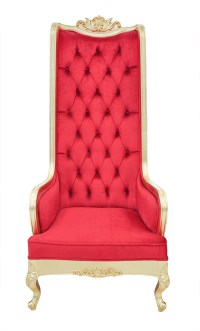 High Back Chair - King Throne Red