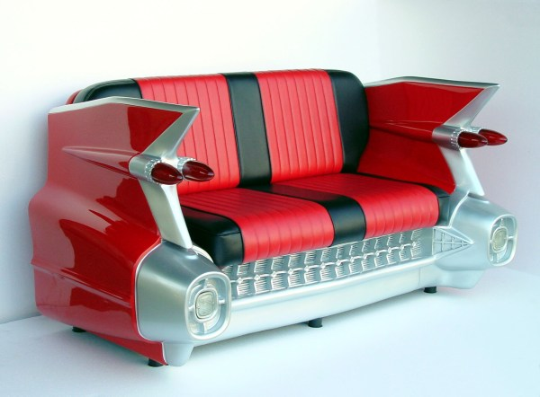 Retro 59 Red Cadillac Sofa