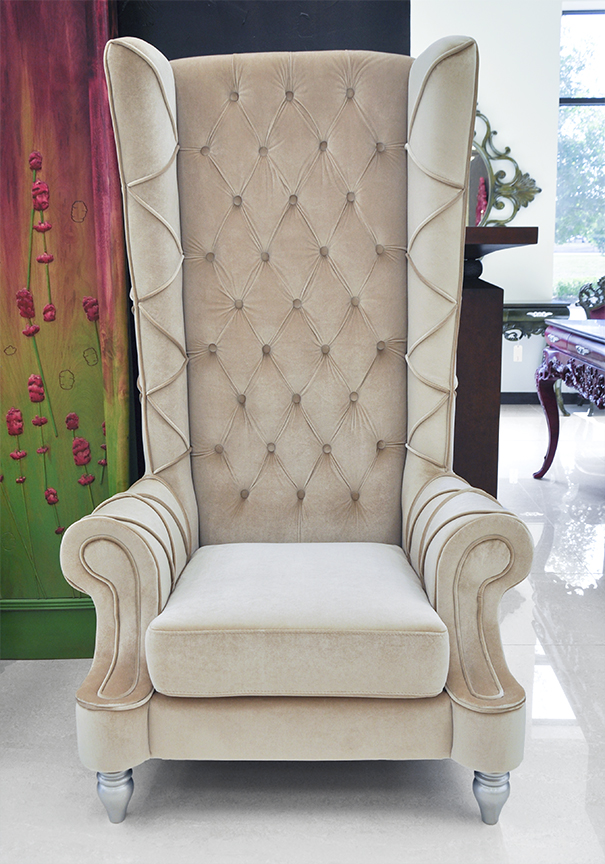throne chair for sale hair styling canada baroque high back - beige