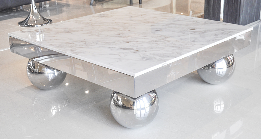 Solid Marble End Tables