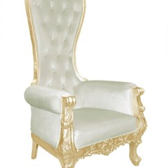 High Backed Throne Chair Acapulco Orange Baroque Queen Back In Beige Velvet