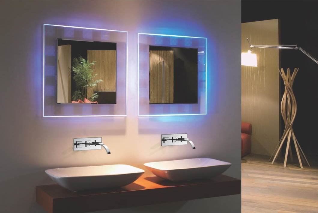 Bellissimo Backlit Mirror RGB Colored LED Mirror with