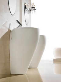 Modern Pedestal Sink - Contemporary Pedestal Sink - Cerchio