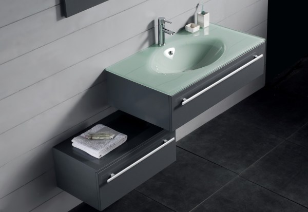 Modern Single Sink Bathroom Vanity