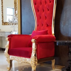 How To Make A Queen Throne Chair Revolving For Back Pain Best House Interior Today Baroque High In Red Velvet Diy Rental