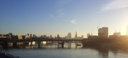 Sunrise from Embankment Bridge