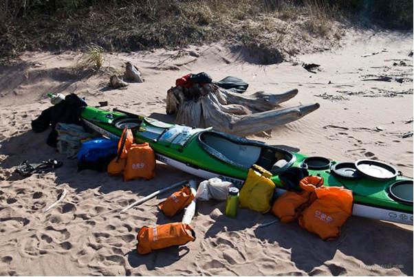 kayak and camping
