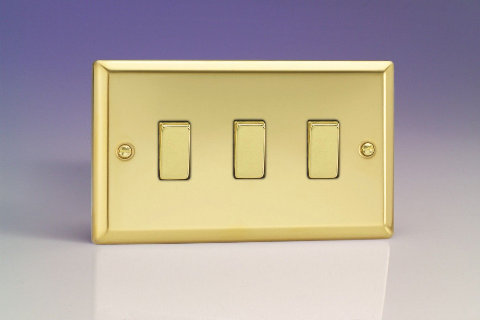 3 Gang Light Switch Twin Plate