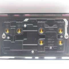 2 Gang Cooker Switch Wiring Diagram Dball2 Attractive What Is A Double Pole Used For Image