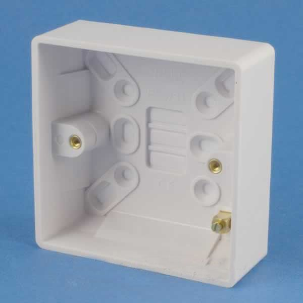 Gang Surface Mount Wiring Box White Electrical Boxes Amazoncom