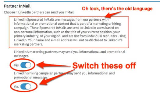 how to turn off promotional messages linkedin linked in stop linkedin spam