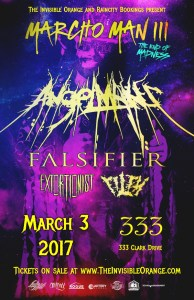 SOLD OUT! AngelMaker, Falsifier, Filth, Of Modern Architecture at 333 @ The 333 |  |  |