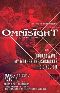 OmnisighT, [squarewave], My Mother the Carjacker, Lucid After Life @ Astoria Hastings |  |  |