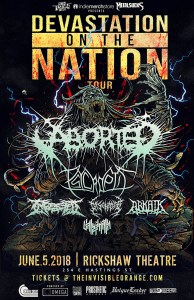 Devastation On The Nation Tour 2018 @ Rickshaw Theatre | Vancouver | British Columbia | Canada