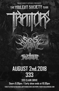 TRAITORS / Sings of the Swarm / Falsifier :: 333 Club @ 333 | Vancouver | British Columbia | Canada