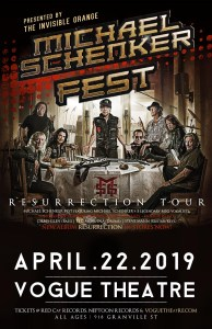 MICHAEL SCHENKER FEST :: The Vogue Fest @ The Vogue Theatre | Vancouver | British Columbia | Canada
