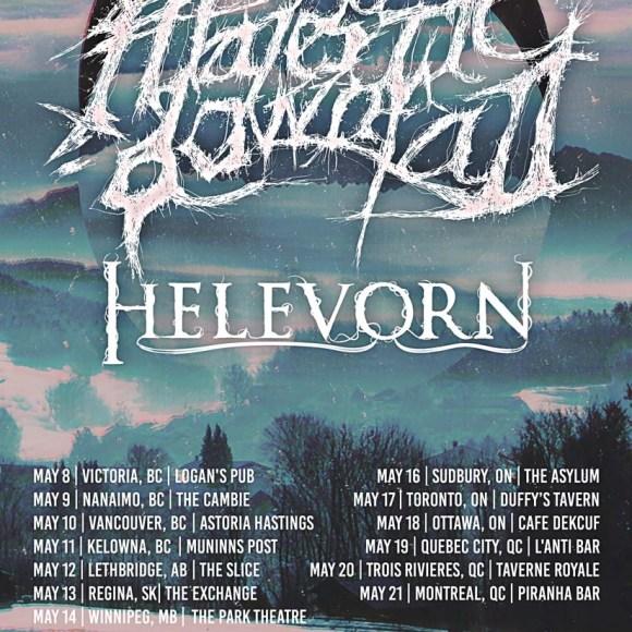 Canadian Tour Dates: Majestic Downfall (MX) + Helevorn (SP) Bring Melancholic Doom Metal To Canada