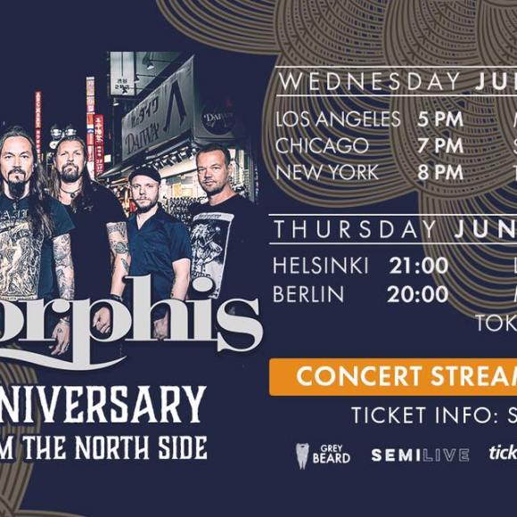 AMORPHIS 30th ANNIVERSARY – STREAM FROM THE NORTH SIDE