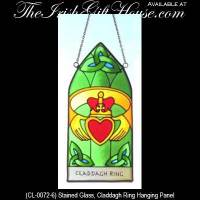 Irish Gifts - Stained Glass Claddagh Ring Sun Catcher ...