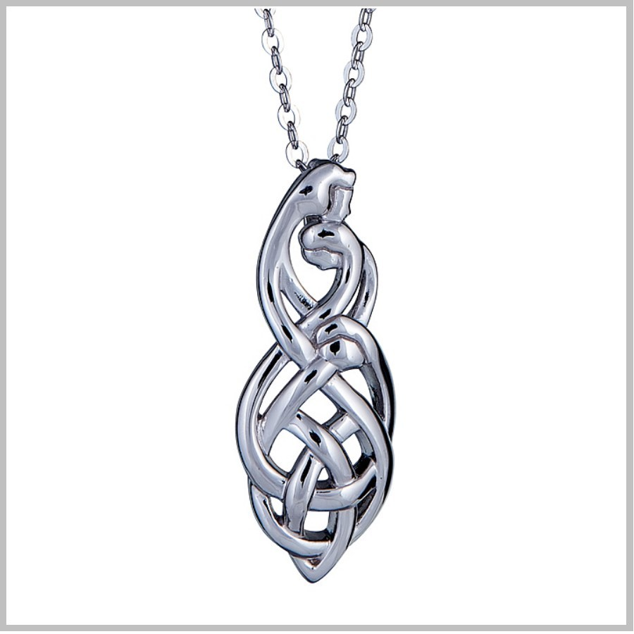 Celtic Family Knot Pendant Family Of Three