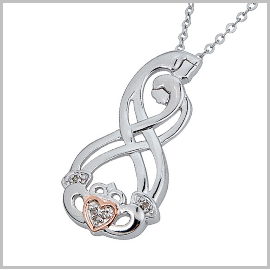 Celtic Couples Claddagh Pendant Celtic Couples Jewelry