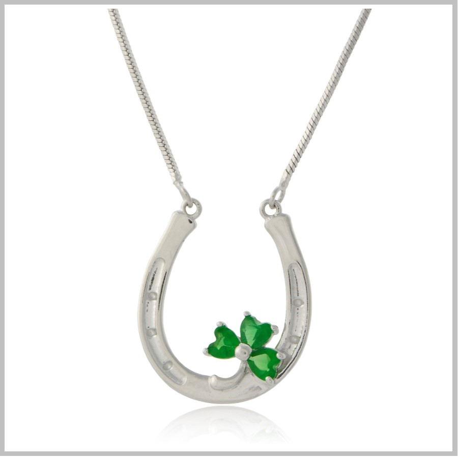 Horseshoe Necklace Shamrock Horseshoe Necklace