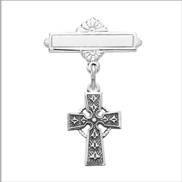 Celtic Cross Bar Pin
