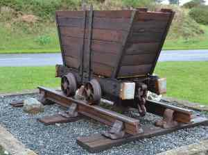 Ore Trolley used to transport ore in the mines - The Irish Place