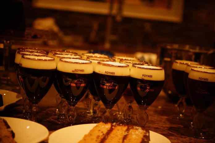 Irish Coffee waiting to be served - The Irish Place